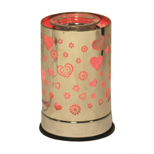 LED Cylinder Electric Wax Melt Burner - Heart