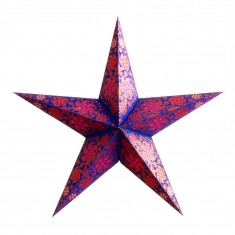 'Madras' Blue Copper Glitter - Large Paper Star Light