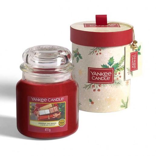 Medium Jar - Yankee Candle Christmas Gift Set 2020 Candlemania Unwrap The Magic Medium Jar