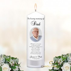 Memorial Candle Personalised Rememberance Memory Candle