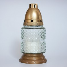 Mini Cyllinder Clear - Grave Lantern With Candle