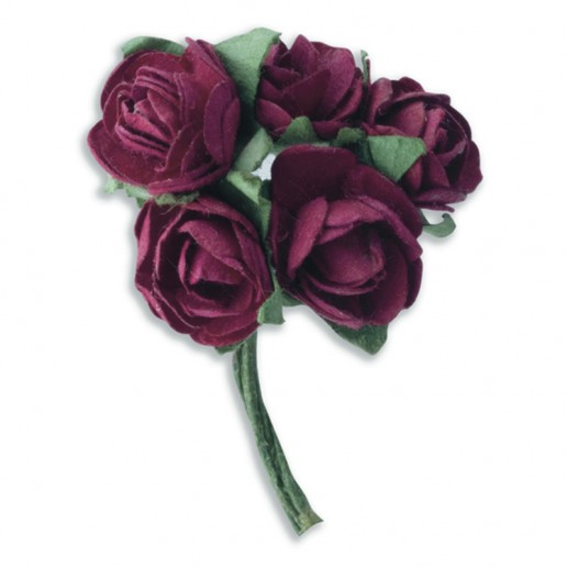 Mini Tea Rose - Burgundy
