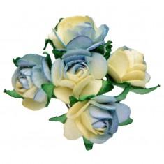 Miniature Tea Roses - Blue 15mm