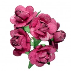 Miniature Tea Roses - Burgundy 15mm