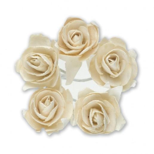 Miniature Tea Roses - Ivory 15mm