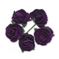 Miniature Tea Roses - Purple 15mm