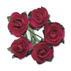 Miniature Tea Roses - Red 15mm