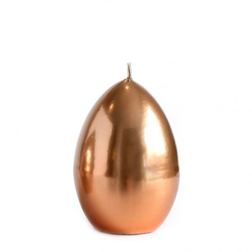 Mirror Easter Egg Candle Decoration - Copper