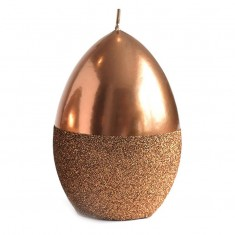 Mirror Easter Egg Candle Decoration With Glitter - Copper Large