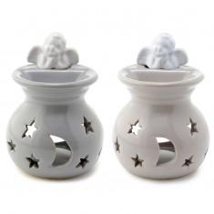Moon And Stars Cherub - Ceramic Oil And Tart Burner