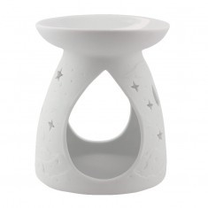 Moon & Stars - Porcelain Wax Burner front