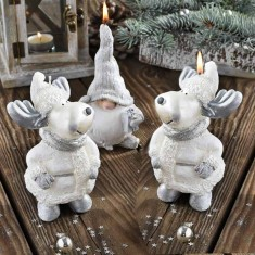 Moose and Gnome Figurine Handmade Gift Candle