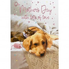 Mother's Day Card - Cat And Dog