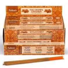Nag Champa & Cinnamon - Tulasi Hand rolled Incense Sticks