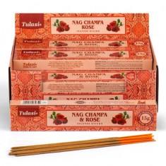 Nag Champa & Rose - Tulasi Hand rolled Incense Sticks