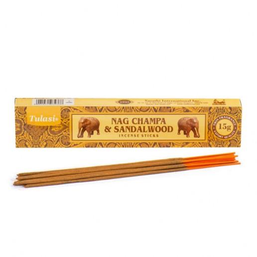 Nag Champa & Sandalwood - Tulasi Hand rolled Incrense Sticks packet