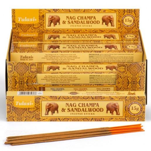 Nag Champa & Sandalwood - Tulasi Hand rolled Incrense Sticks