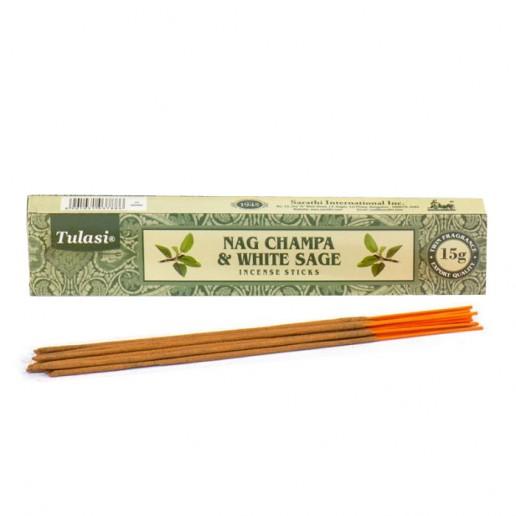 Nag Champa & White Sage - Tulasi Hand rolled Incense Sticks  packet