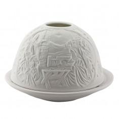 Nativity - Glowing Dome Porcelain Tea Light Holder back