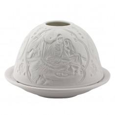 Nativity - Glowing Dome Porcelain Tea Light Holder front
