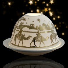 Nativity - Glowing Dome Porcelain Tea Light Holder