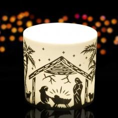 Nativity - Porcelain Tea Light Candle Holder