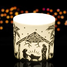 Nativity - Porcelain Tea Light Candle Holder