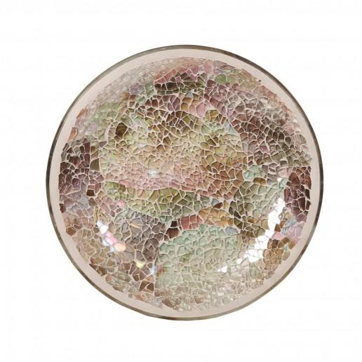 Natural Crackle Yankee Candle Jar Plate