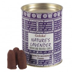 Natures Lavender - Goloka Backflow Incense Cones