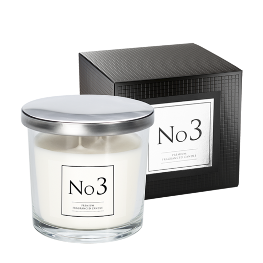 No 3 Double Wick Candle with box