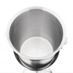 Olympia Brushed Stainless Steel Wine And Champagne Bucket inside