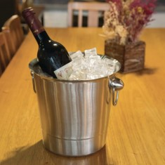 Olympia Brushed Stainless Steel Wine And Champagne Bucket Lifestyle