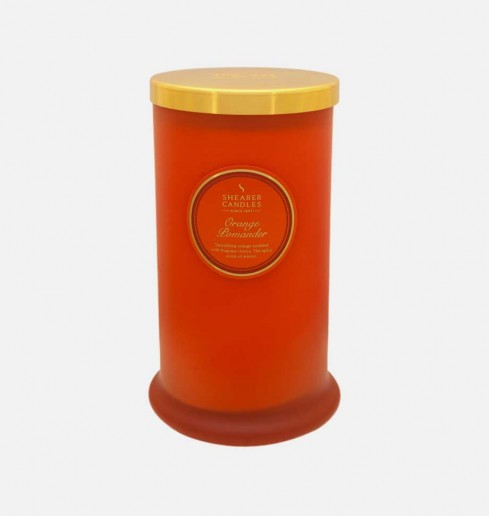 Orange Pomander - Tall Pillar Jar Candle