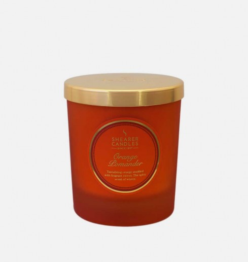 Orange Pomander - Small Pillar Jar Candle
