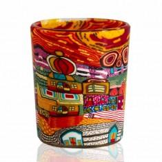 Orange Town - Glowing Votive Glass Tea Light Candle Holder