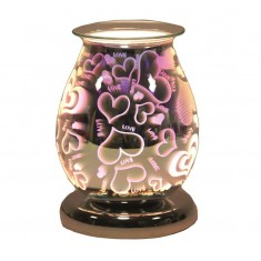 Oval 3D Electric Wax Melt Oil Burner - Heart