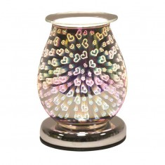 Oval 3D Electric Wax Melt Oil Burner - Hearts