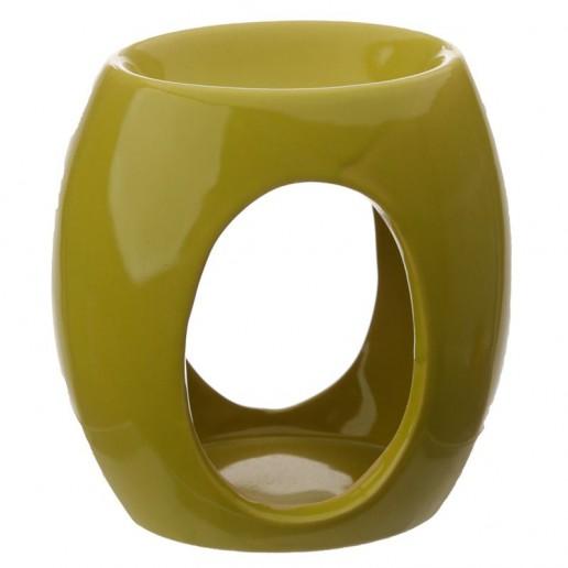Oval Cut - Out Wax Melt Burner Green