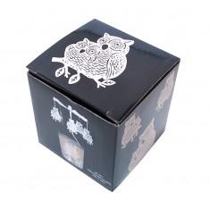 Owl - Spinning Tea Light Candle Holder box