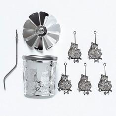 Owl - Spinning Tea Light Candle Holder