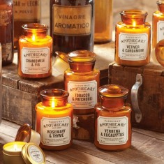 Paddywax Candles Apothecary Glass Amber Jars Collection