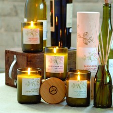 Paddywax Candles Eco Green Cut Wine Bottle Collection