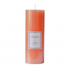 Peach Tall - Large Scented Pillar Candle