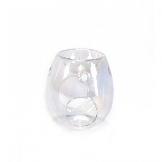 Pearlescent - Clear Glass Essential Oil Burner