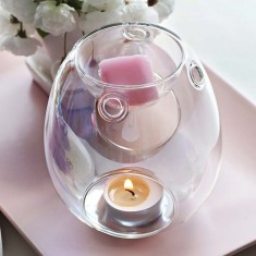 Pearlescent Clear Glass Wax Melt Burner Candlemania