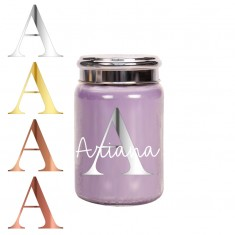 Personalised Village Candle in Glass Jar