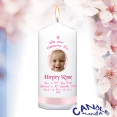 christening candles personalised candles