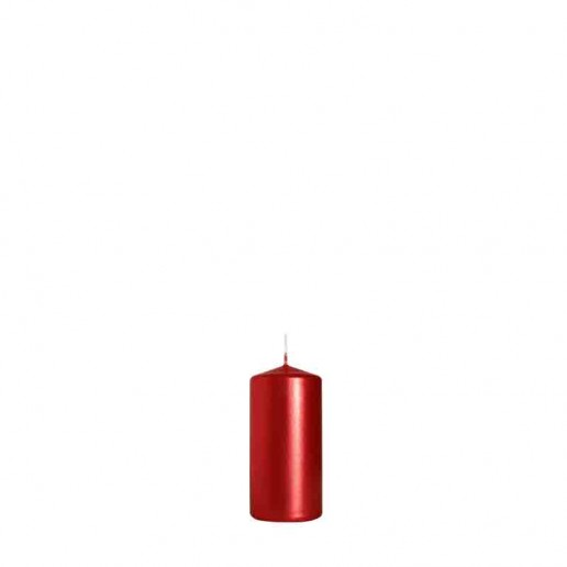 Pillar Candle 10cm x 5cm - Metallic Red