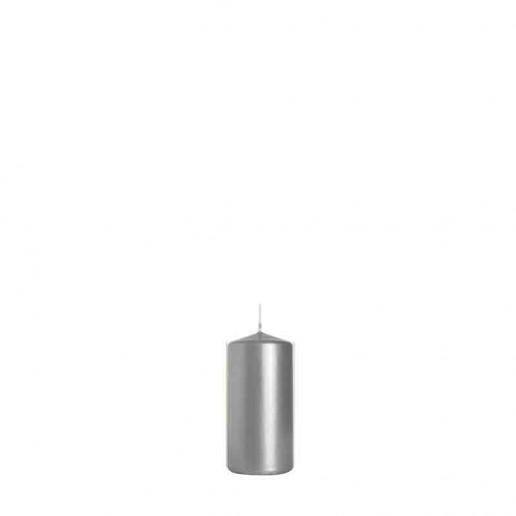 Pillar Candle 10cm x 5cm - Silver