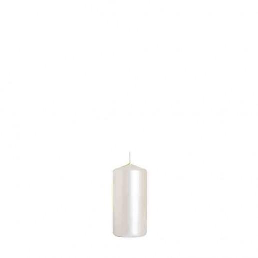 Pillar Candle 10cm x 5cm - White Pearl